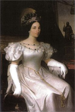 Portrait of Maria Beatrix Victoria of Savoia | Adeodato Malatesta | Oil Painting