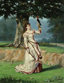 Lady with a Falcon | Jose María Manresa y Ortuño | Oil Painting