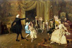 The Dance Lesson | Giacomo Mantegazza | Oil Painting