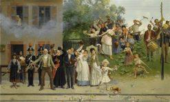 The King Passes | Giacomo Mantegazza | Oil Painting