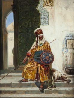 An Arab Guard | Giacomo Mantegazza | Oil Painting