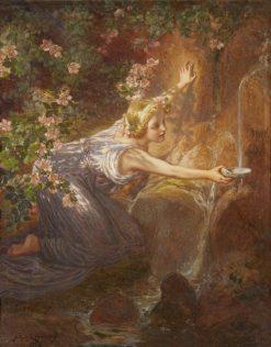 At the Source | Julius Johann Ferdinand Kronberg | Oil Painting