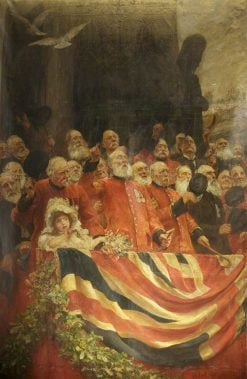 The Old Guards Cheer | Hubert von Herkomer | Oil Painting