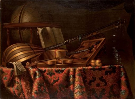 Still Life with Mandolin and Violin | Bartolomeo Bettera | Oil Painting