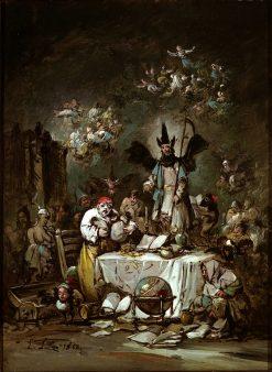 Allegorical Caprice. The Avarice | Eugenio Lucas Velazquez | Oil Painting