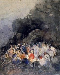 Group of Figures | Eugenio Lucas Velazquez | Oil Painting