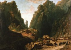 Lanscape with Smugglers | Eugenio Lucas Velazquez | Oil Painting