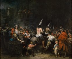 Condemned by the Inquisition | Eugenio Lucas Velazquez | Oil Painting