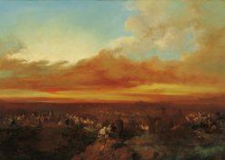 Arab Caravans Arriving at the Coast | Eugenio Lucas Velazquez | Oil Painting