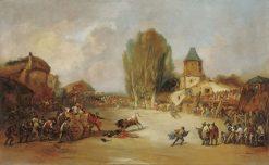 Goring at a Village Bullfigh | Eugenio Lucas Velazquez | Oil Painting
