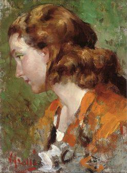 The girl with auburn hair | Vincenzo Irolli | Oil Painting