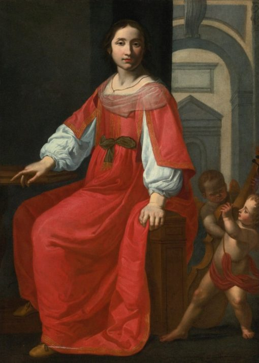 Saint Cecilia with Two Angels   Giovanni Martinelli   Oil Painting
