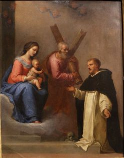 Madonna and Child with St. Andrew and St. Dominic | Giovanni Martinelli | Oil Painting
