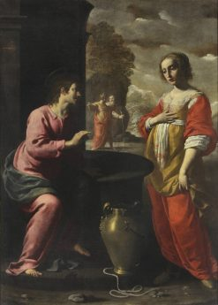 Christ and the Samaritan woman at the well | Giovanni Martinelli | Oil Painting