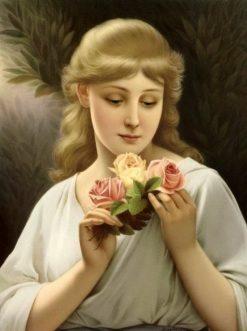 Portrait of a Fair-Faired Beauty | Wilhelm Menzler | Oil Painting