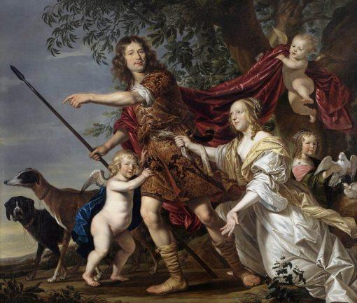 Portrait of a Couple as Venus and Adonis   Jacob-Fransz van der Merck   Oil Painting