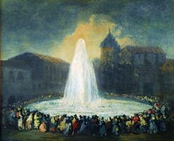 The Fountain of Lozoya | Eugenio Lucas Velazquez | Oil Painting