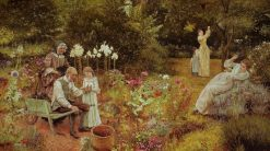 A Golden Swarm | Edward Killingworth Johnson | Oil Painting