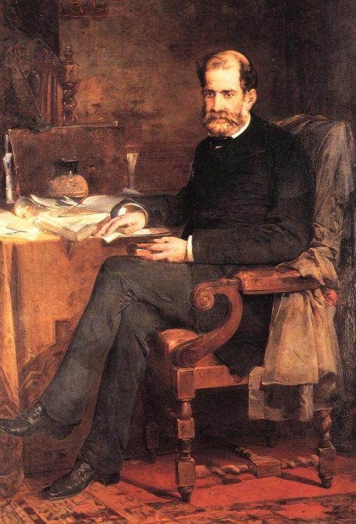 Portrait of Architect Lysandros Kaftanzoglou | Nikiphoros Lytras | Oil Painting