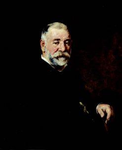 Portrait of Tenian Scylptor Lakovos Varoutis | Nikiphoros Lytras | Oil Painting