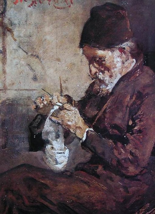 Knitting Monk | Nikiphoros Lytras | Oil Painting