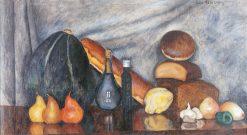 Still-life with Bread and Pumpkin | Ilya Mashkov | Oil Painting