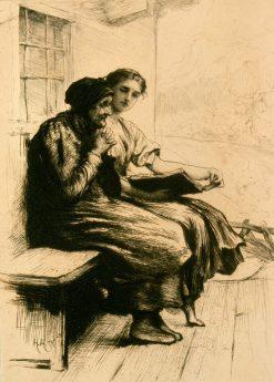 Words of Comfort | Hubert von Herkomer | Oil Painting