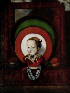 Still life with porcelain doll   Ilya Mashkov   Oil Painting