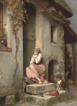 La cagale   Emile Pierre Metzmacher   Oil Painting