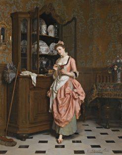 The Aperitif   Emile Pierre Metzmacher   Oil Painting