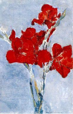Red Gladioli | Piet Mondriaan | Oil Painting