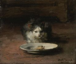 The Cats Repast | Claude Joseph Bail | Oil Painting