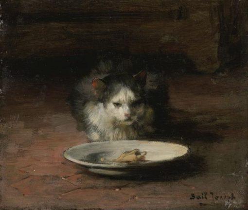 The Cats Repast   Claude Joseph Bail   Oil Painting