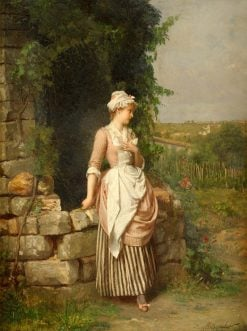 The first rendezvous   Emile Pierre Metzmacher   Oil Painting