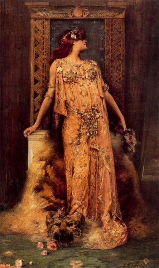 Sara Bernhard   Georges Jules Victor Clairin   Oil Painting