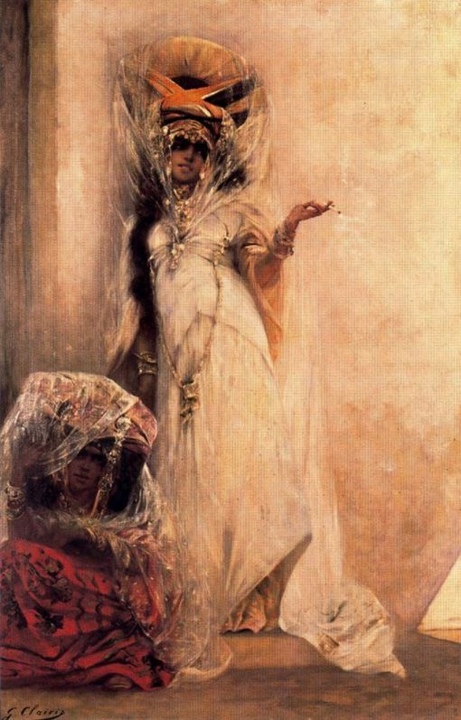 Two Ouled Naïl Women | Georges Jules Victor Clairin | Oil Painting