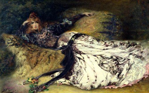 Sarah Bernhardt | Georges Jules Victor Clairin | Oil Painting