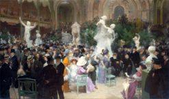 Un Vendredi au Salon des Artistes francais | Georges Jules Victor Clairin | Oil Painting