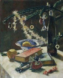 Still Life under the Christmas Tree   Anton Hula   Oil Painting