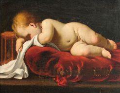 Sleeping Baby | Luigi Miradori | Oil Painting
