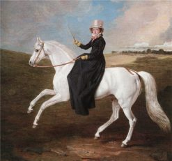 Mary Musters On a Grey Horse Riding Sidesaddle | Benjamin Marshall | Oil Painting