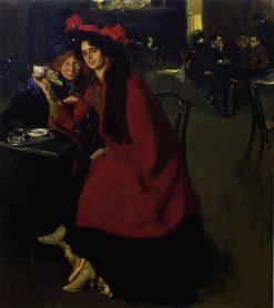 In the Cafe | Oleksandr Murashko | Oil Painting