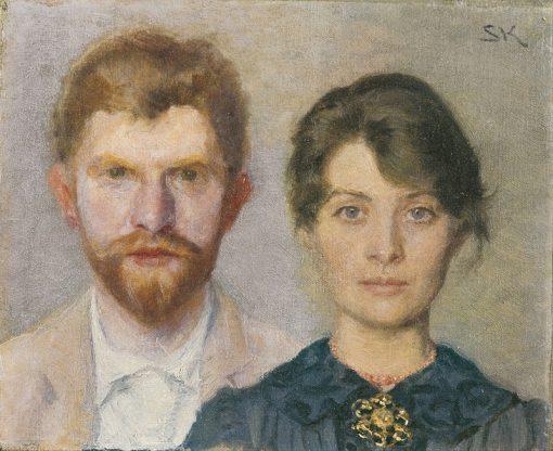 Double portrait of Marie and Peder Severin Krøyer | Marie Triepcke Kroyer | Oil Painting