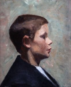 Young Boy in Profile | Marie Triepcke Kroyer | Oil Painting