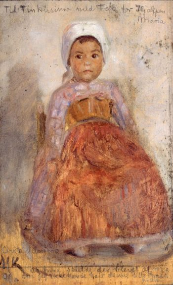 Portrait of a small Itralian Girl | Marie Triepcke Kroyer | Oil Painting