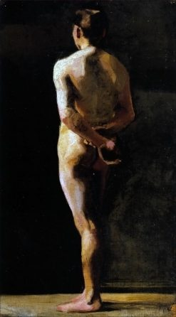 Naked Man from the Back   Marie Triepcke Kroyer   Oil Painting