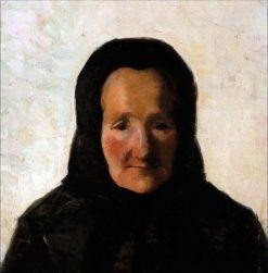 Woman in Headscarf   Marie Triepcke Kroyer   Oil Painting