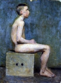 Boy on a Stool   Marie Triepcke Kroyer   Oil Painting