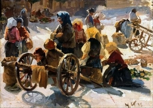 Market in France | Marie Triepcke Kroyer | Oil Painting