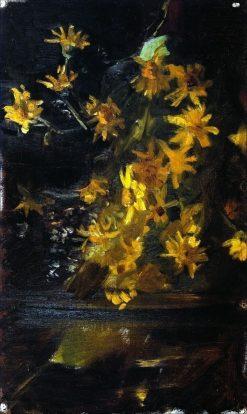 Yellow Flowers   Marie Triepcke Kroyer   Oil Painting